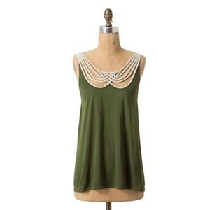 Leifnotes (Anthro.) • Scalloped Strings Tank